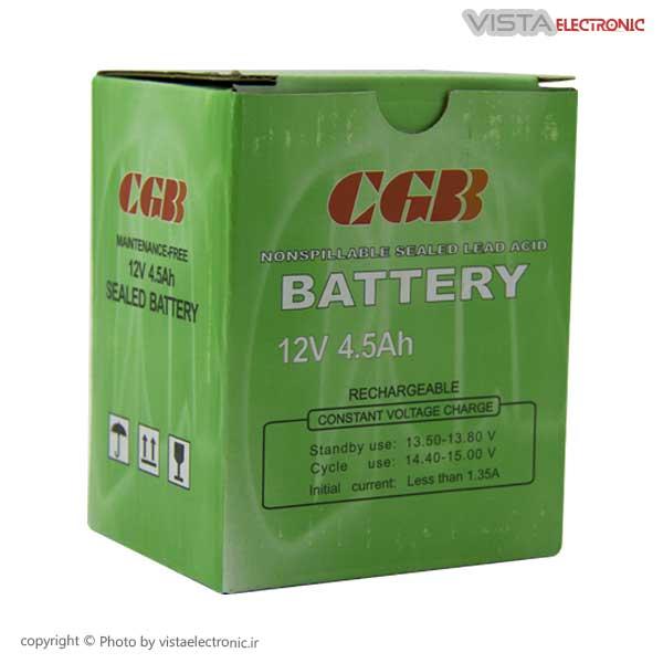 جعبه باتری 12 ولت 4.5 آمپر